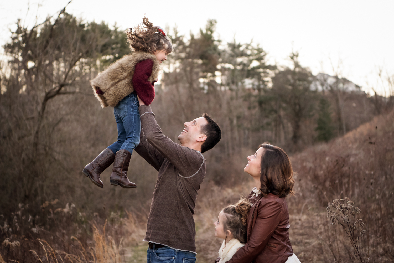 Family loving each other, Canonsburg, Family Photography, little girls, dad tossing girl in air