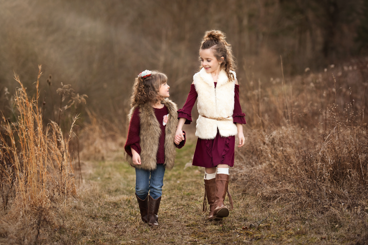 Family loving each other, Canonsburg, Family Photography, little girls, sisters walking hand in hand