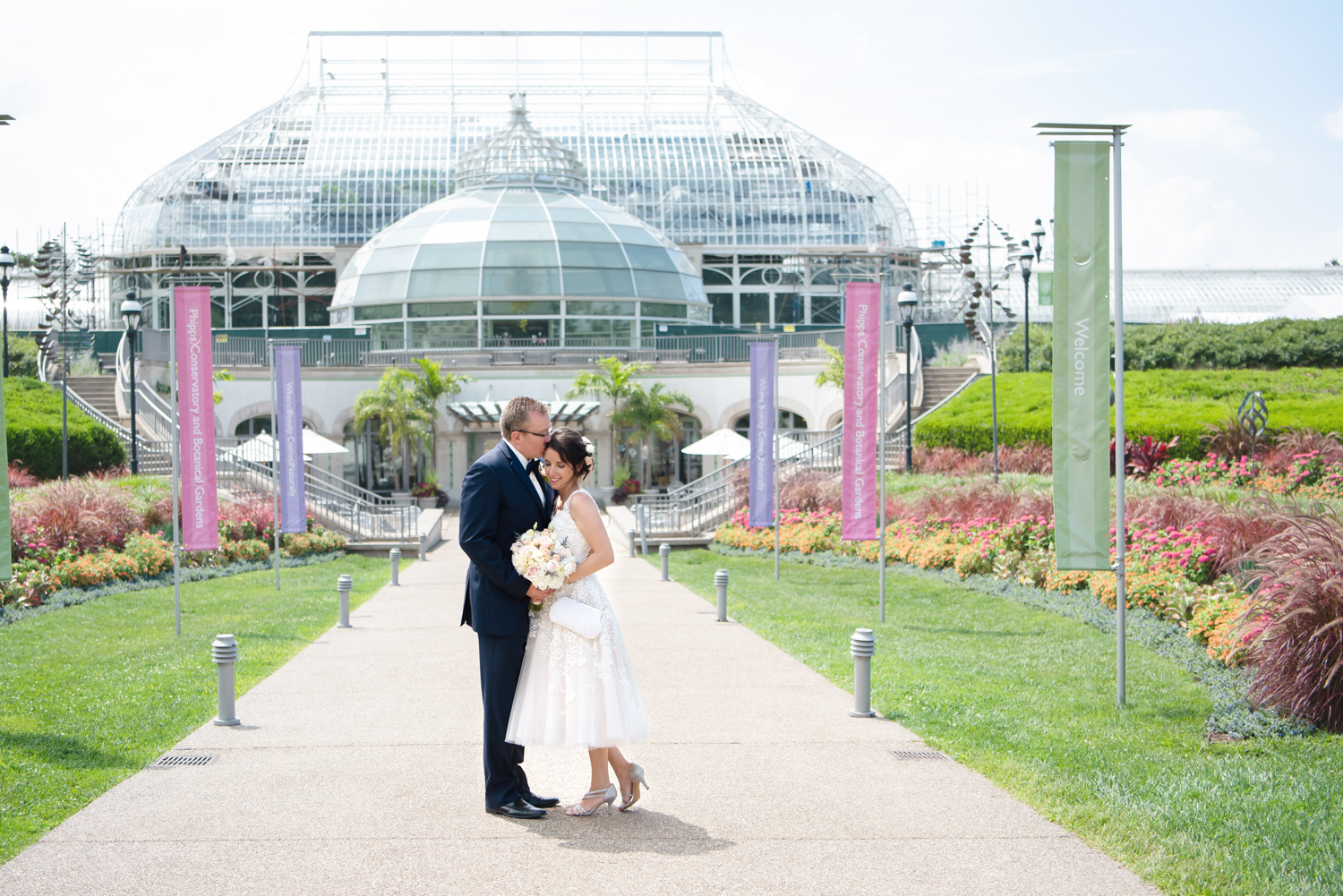 Phipps Conservatory Pittsburgh Wedding couple